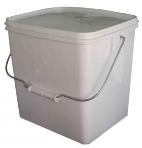 seau rectangulaire avec couvercle 13 litres