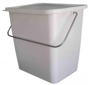 seau rectangulaire avec couvercle 22 litres